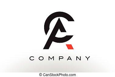 ac, lettre, vector., conception, logo.