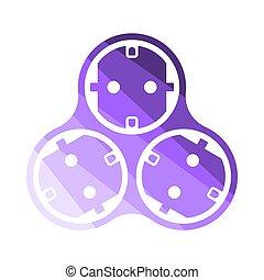 AC Splitter Icon. Flat Color Ladder Design. Vector...
