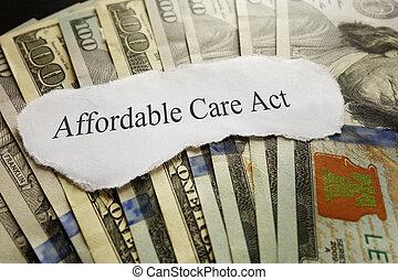 ACA headline - Affordable Care Act news headline on cash...