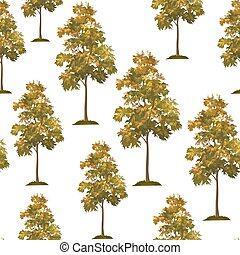 Acacia Trees Seamless - Seamless Pattern, Acacia Tree...