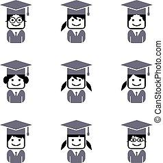 académico, colegio, avatar, estudiante