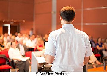 académico, profesor, faculty., dictar una conferencia