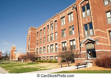 acadêmico, edifícios, cidade faculdade universitária
