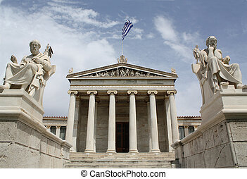 Academhy of Athens. - Neoclassical Academy of Athens in...
