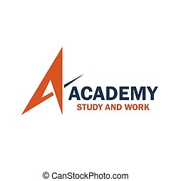 academia, estudo, trabalho, emblema