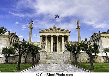 academia, nacional, grecia