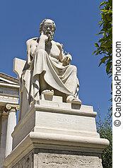 academia, socrates, estatua