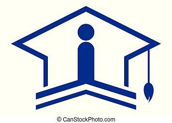 academic bachelor logo icon concept - academic bachelor logo...