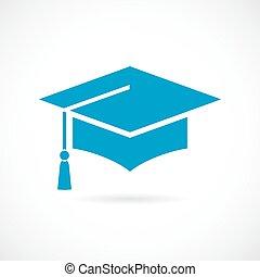 Academic cap vector icon