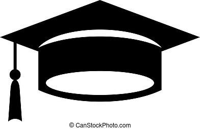 Academic graduation cap icon