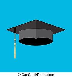 cademic graduation cap. Student hat
