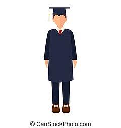 academic graduation man
