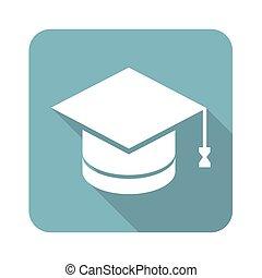 Academic hat square icon