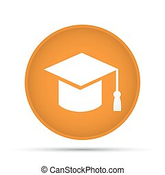 Academic icon on a circle on a white background. Vector illustration