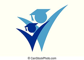 academic logo vector icon