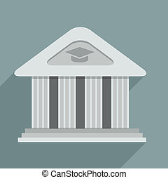 Academy - minimalistic illustration of an academy temple...