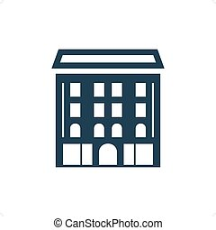 Academy building icon vector illustration isolated on white...