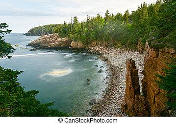 Acadia National Park Coast - Rocky coast of Monument Cove in...