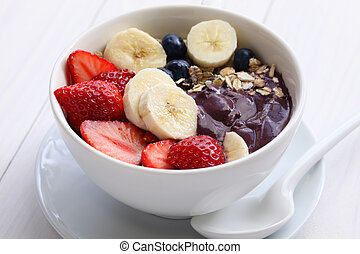 acai bowl - Acai bowl are popular in Brazil, Hawaii and Baja...