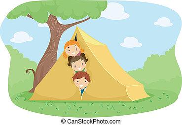 acampamento, barraca