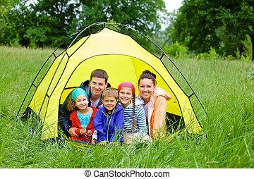 acampamento familiar
