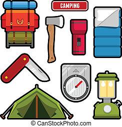 acampamento, gráficos