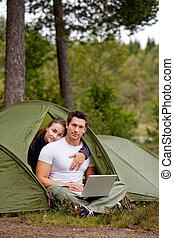 acampamento, modernos