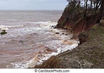 acantilado, erosión
