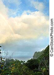 acantilado, vista, de, arco irirs, encima, isla grande