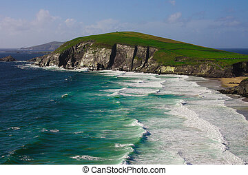 acantilados, dingle, península, irlanda