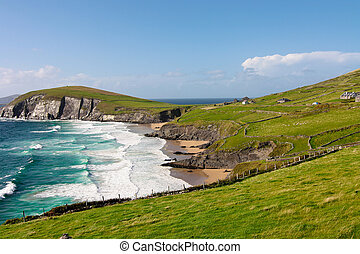 acantilados, dingle, península, irlanda