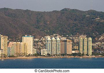 acapulco, 海岸線, 在, 墨西哥