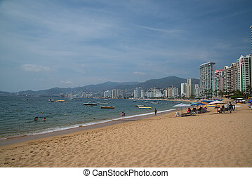 acapulco, 海灘, 墨西哥