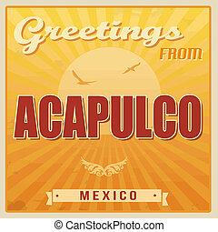 Acapulco vintage poster