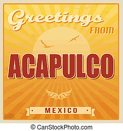 Acapulco vintage poster
