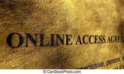 accès, accord, ligne
