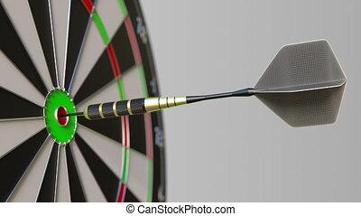 accès, bullseye, cible, dard