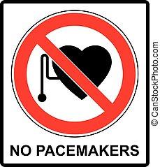 accès, cardiaque, signe, stimulateur, non