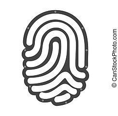accès, empreinte doigt, humain, icône