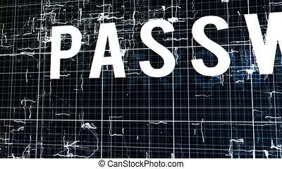 """accès, """"entering, mot passe, result"""", nié"""