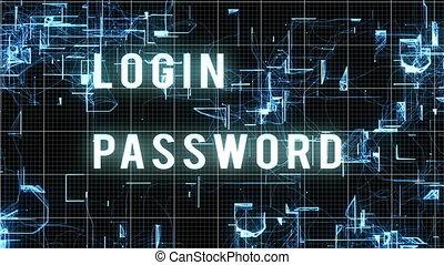 """, accès, ""entering, permis, login, mot passe"
