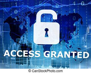 accès, granted