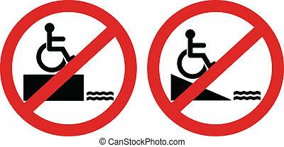 accès, handicapé, nié