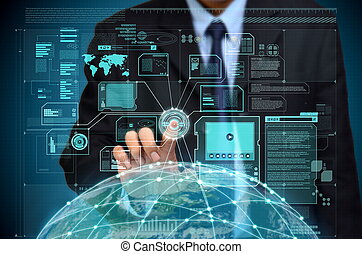 accès, information, global, internet