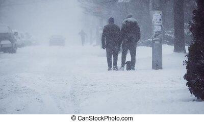 accès, massif, tempête neige, city.