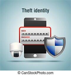 accès, protection, vol, login, mot passe, sécurité, identité