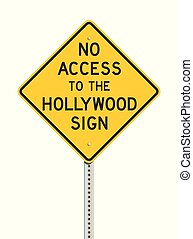 accès, signe hollywood, route, non
