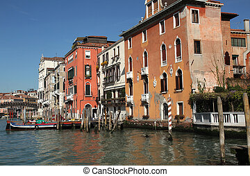 Accademia Venice - view at the palaces and the Accademia ...