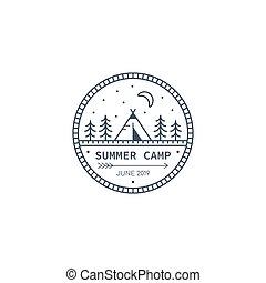 accampamento estate, logotipo