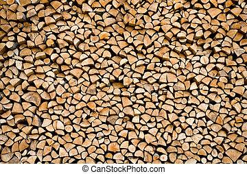 accatastato, legna ardere